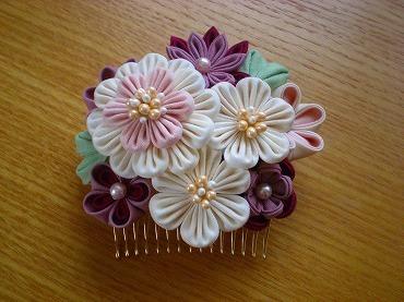 つまみ細工 髪飾り 作り方